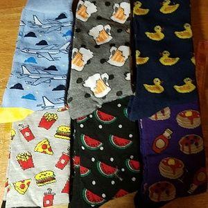 Mid Calf Men's Socks Shoe Size 6-12 One Pair